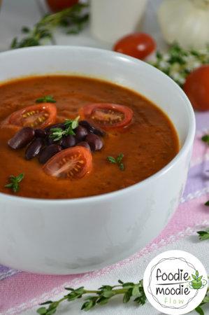 Wegańska Zupa Pomidorowo Paprykowa zFasolą
