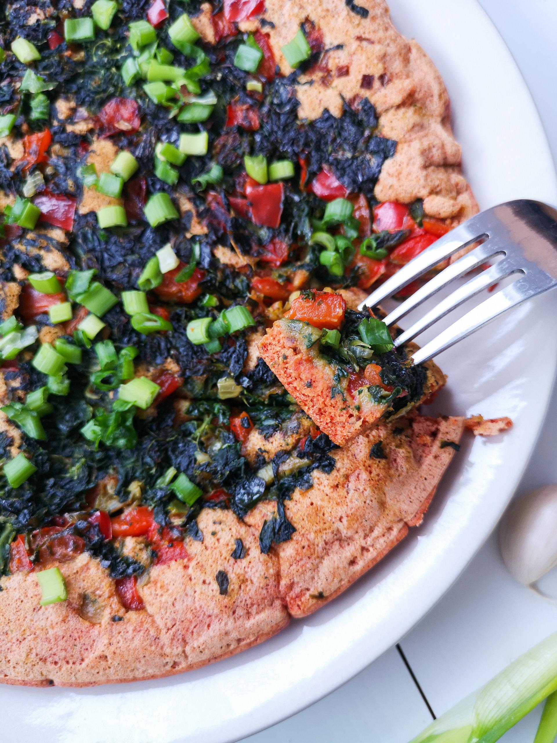 Bezglutenowy omlet zciecierzycy